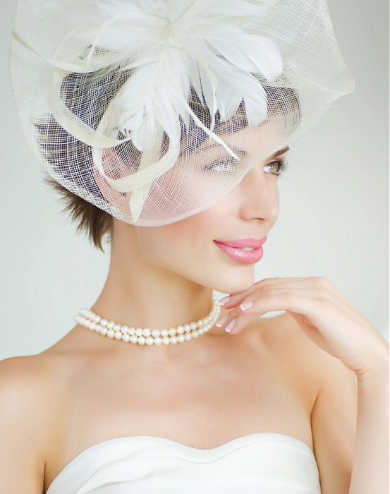Bridal Collections-short brown straight hair styles