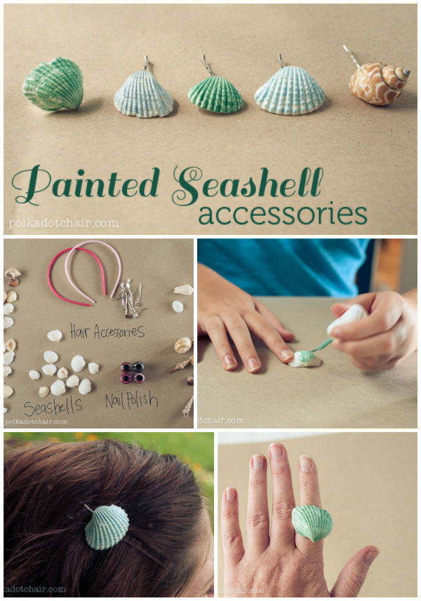 PAINTED SEASHELL HAIR ACCESSORIES