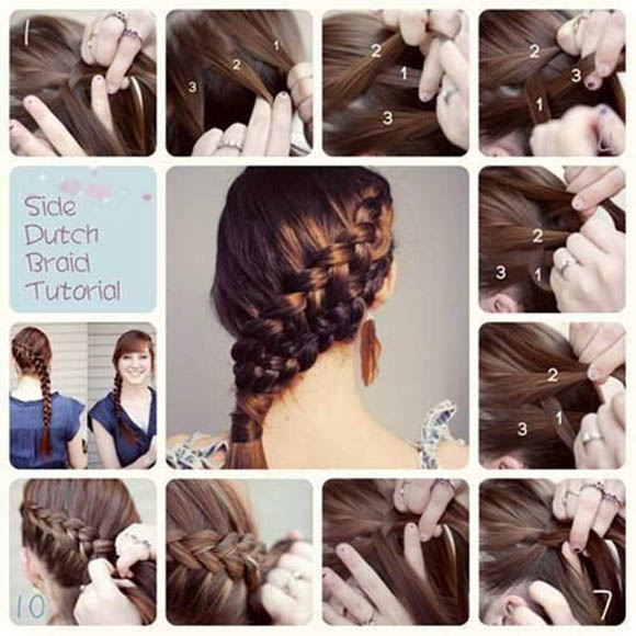 Dutch Braid Hair Tutorial