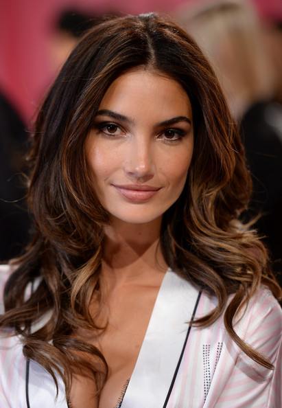 Lily Aldridge Long Curly Hair