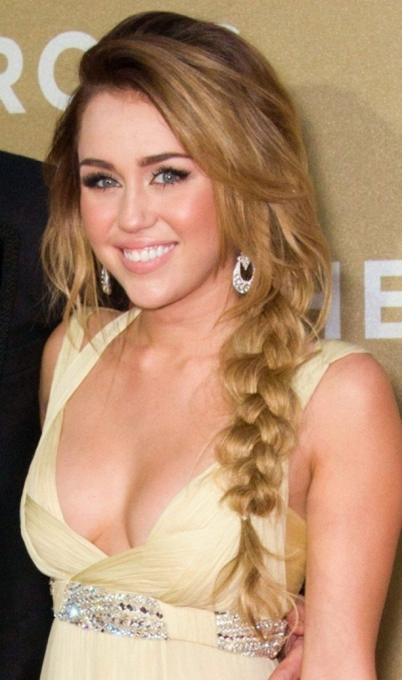 Messy braided hairstyle for long hair