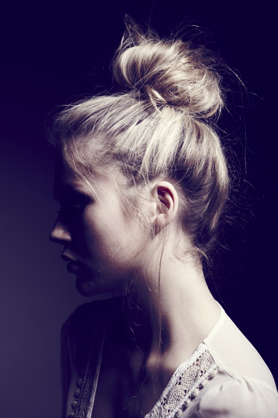 Casual chic topknot hairstyle