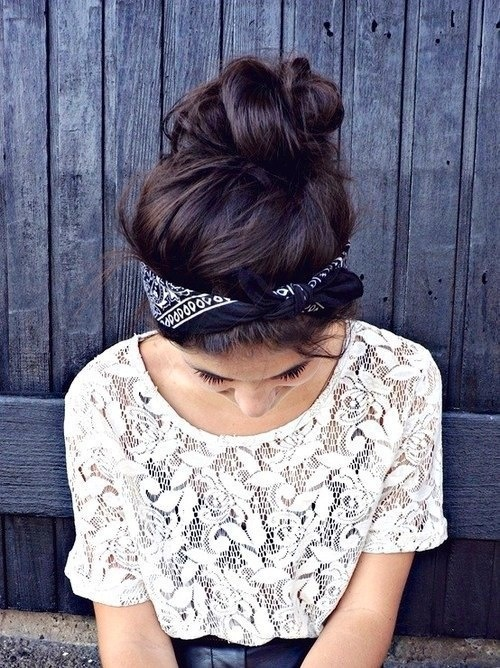 Pretty top knot bun