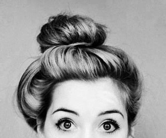 Adorable topknot for summer