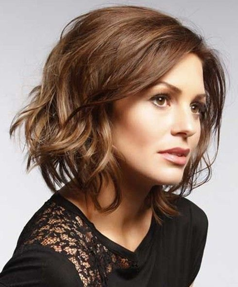 Messy bob hairstyle for brown hair