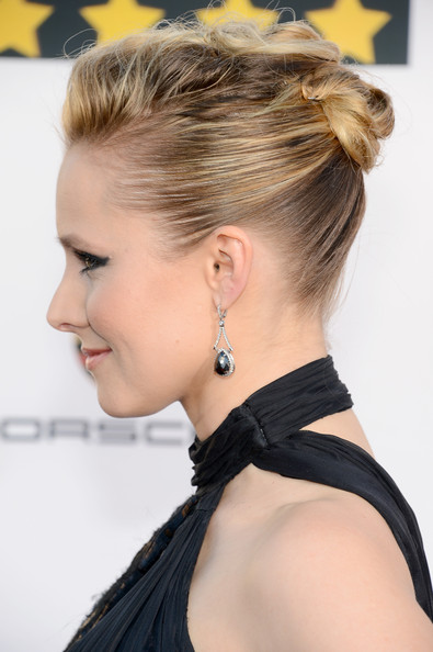Kristen Bell Twisted Bun