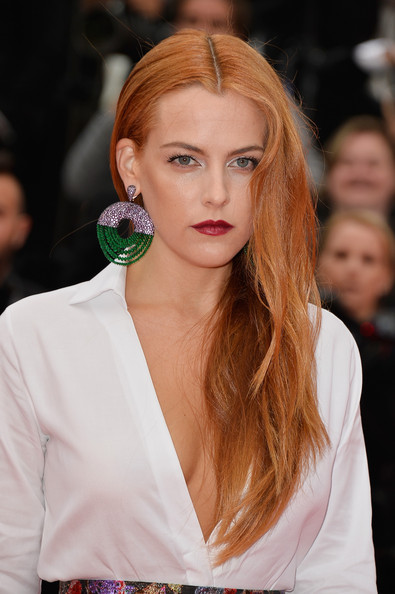 Riley Keough Long Middle Part Hairstyle