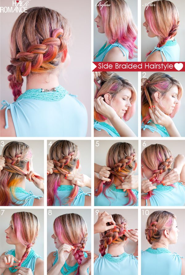 5. SIDE BRAIDED HAIR STYLE