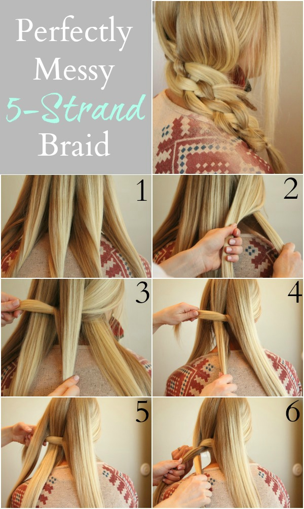 Perfect five-strand braid