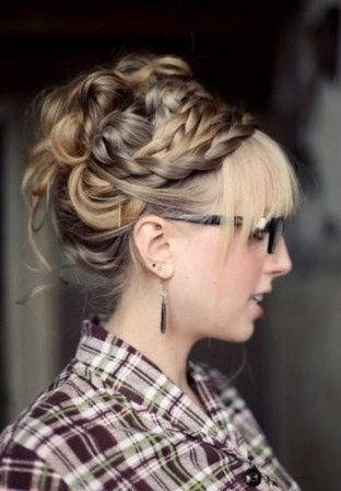 Amazing braided updo for thick hair