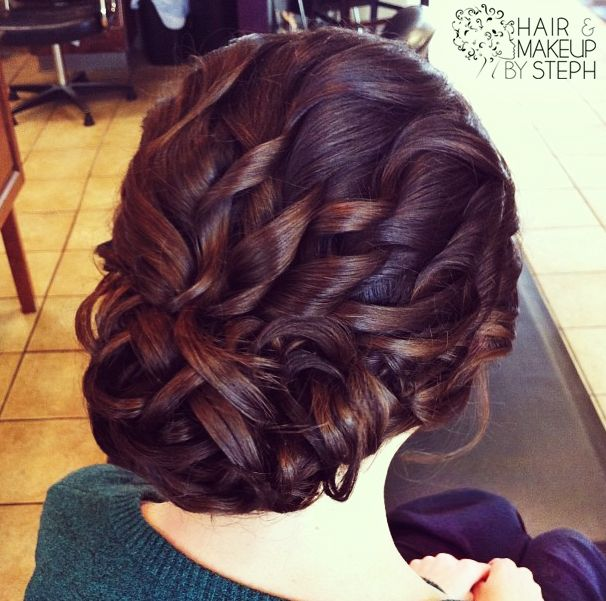 Fantastic curly updo hairstyle
