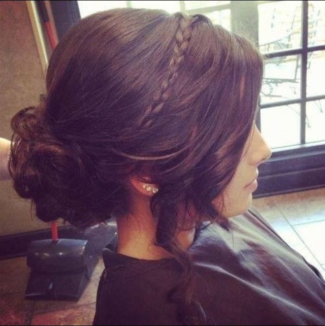 Adorable braided updo