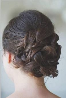 Braided updo for summer