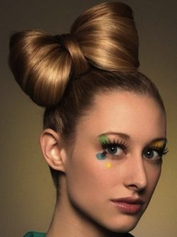 Nice bow hairstyle to try