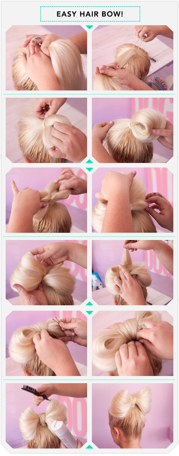 Simple hair bow tutorial