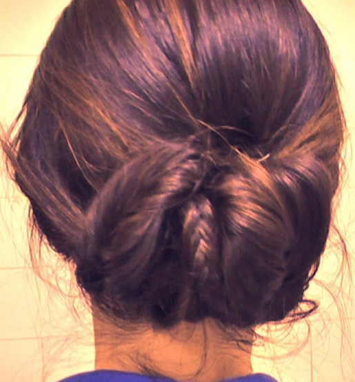 Fishtail Braid sock bun