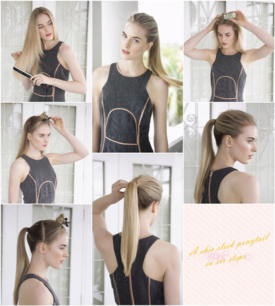 Ponytail for straight hair