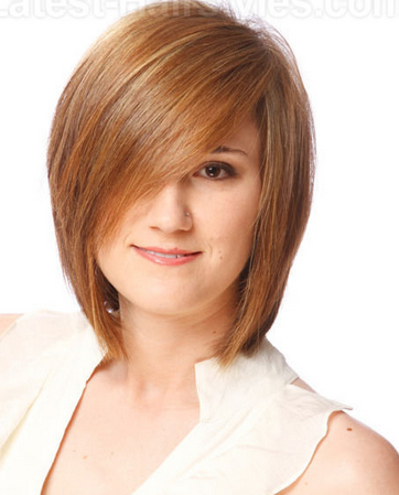 Deep side parted long bob hairstyle
