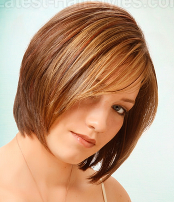 A stacked bob for thick hair