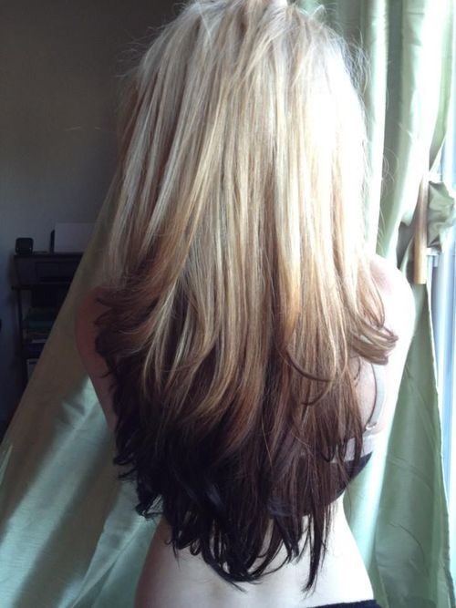 Stylish ombre blonde hair