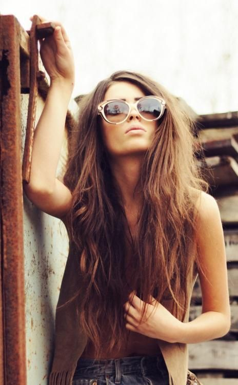 Cool long hairstyle for young women