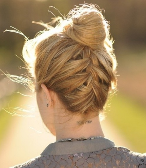 Stylish French braid