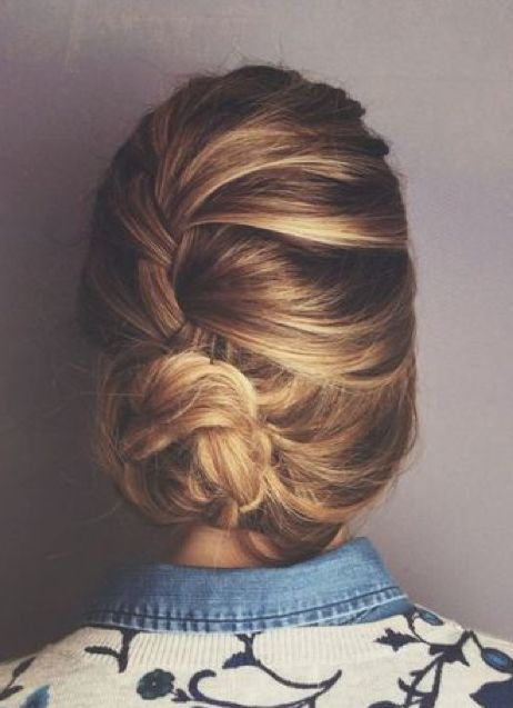 Lose French Braid Bun
