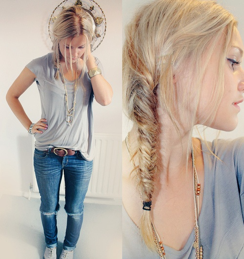 Chaotic fishtail braid