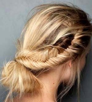 Swept side fishtail braid