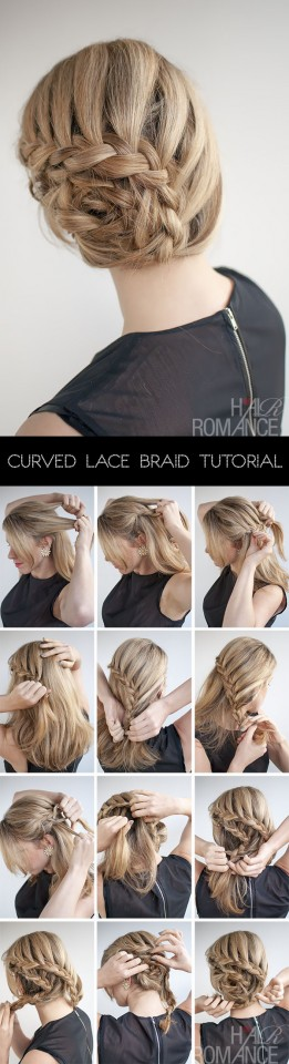 Curved lace braid