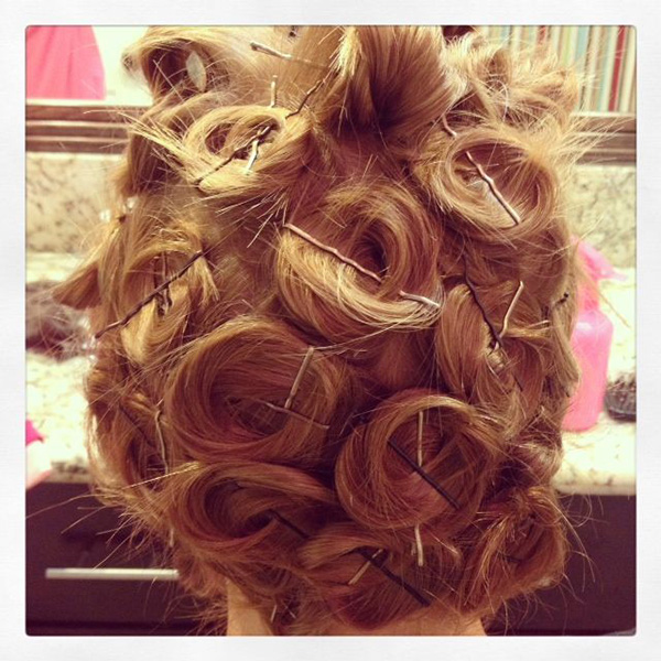 Try pin curls