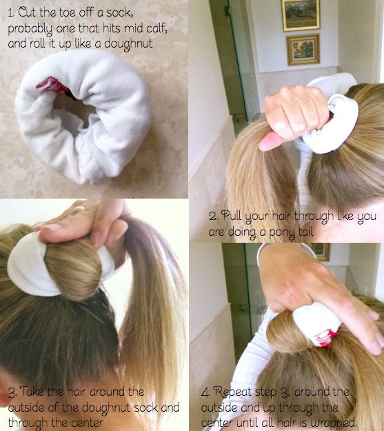 Go for curly sock buns