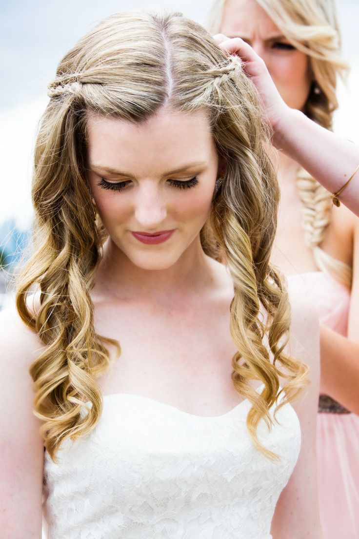 Romantic hairstyle for happy women