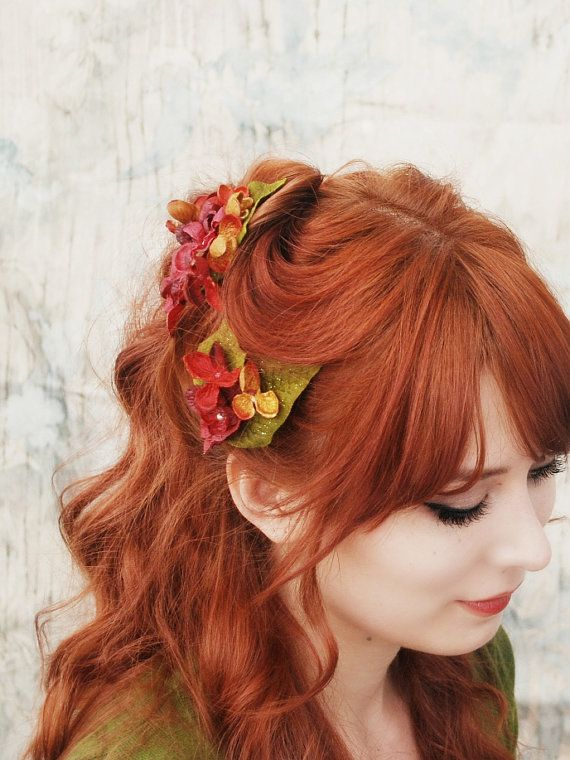 Romantic hairstyle for red hair