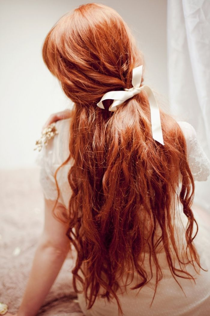 Simple romantic hairstyle for long hair
