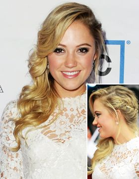 Romantic side-swept hairstyles
