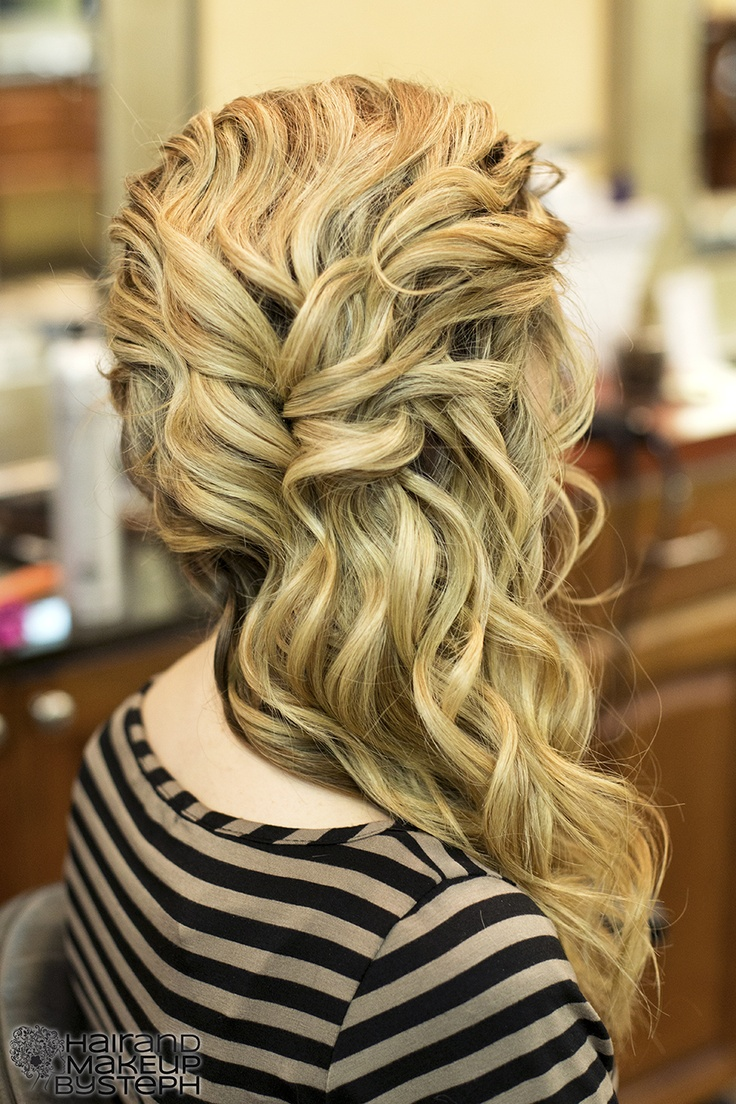 Beautiful curls swept sideways