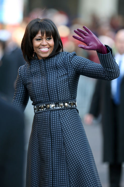 Michelle Obama's Rounded Bangs
