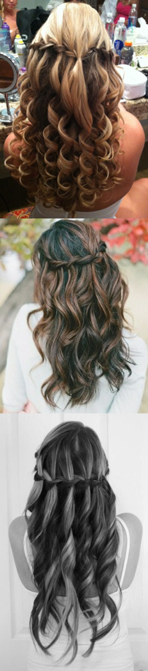Waterfall hairstyles for 2014 proms