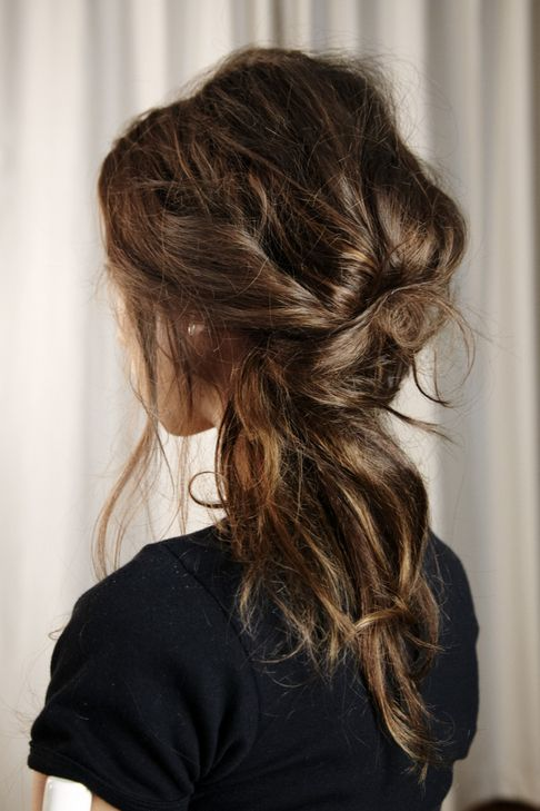 Messy hairstyle for 2014 proms