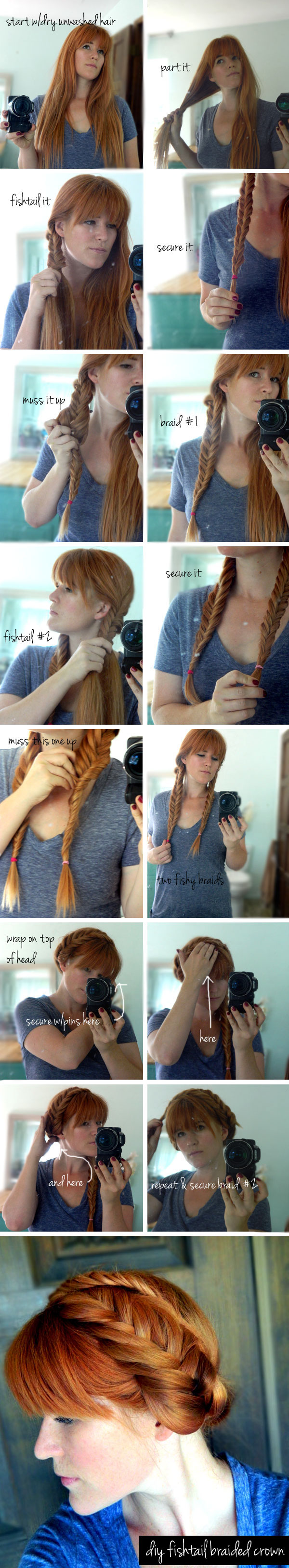 Braided crown with fish tail