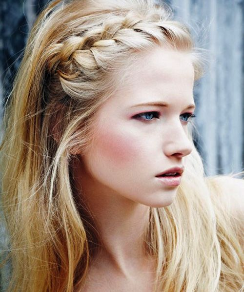 Lace braided hairstyle