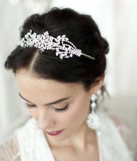 Up-do with headband