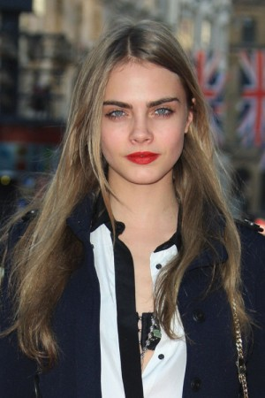 Ash blonde hairstyles: Cara Delevinge Messy Haircut