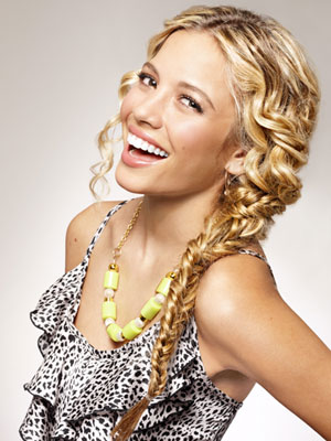 A fun braid for super curly hair