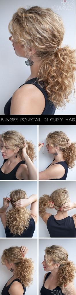 Tutorial for curly hairstyles - the curly ponytail