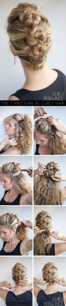 The French Roll Twist And Pin hairstyle