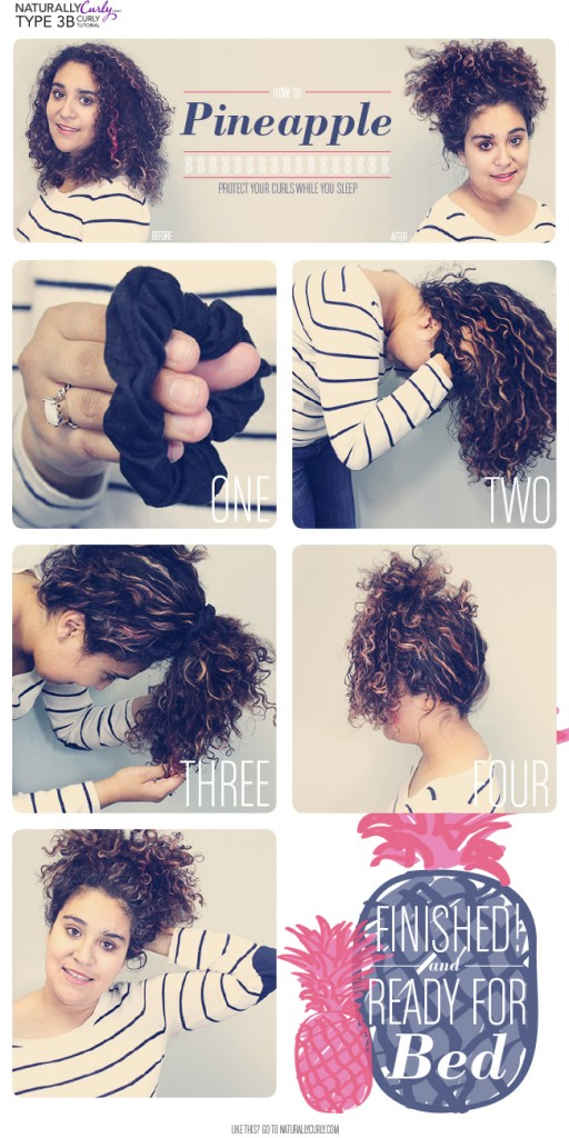 The pineapple method for natural hair