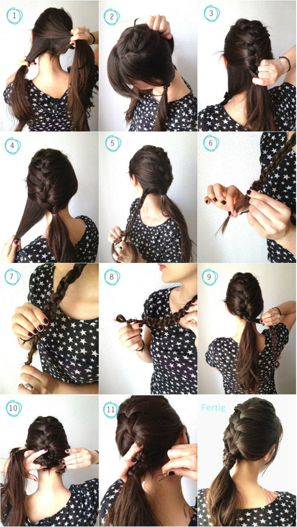Ponytail with a French braid