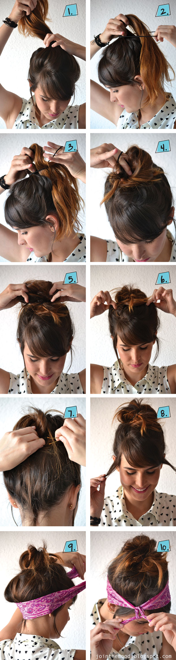 Hair tutorial with bandana